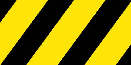 FLG SYBK - Yellow/Black Striped Flagging